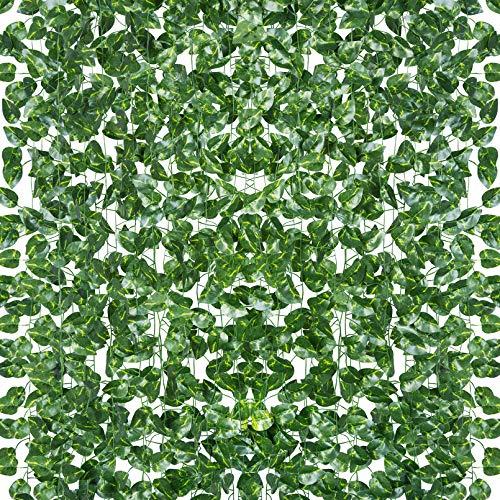18 Pack 124 Feet Aesthetic Room Decor Vines Fake Leaves Greenery Garland...
