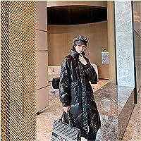 LSHGJ 女性のジャケットダウンパーカー軽量ダウンジャケットの防風と暖かい歩行のための暖かいコート (Color : Black, Size : Small)