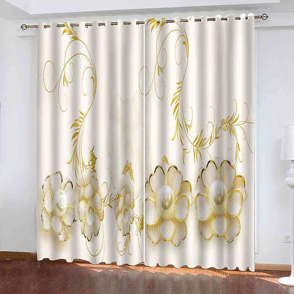 CJKTEZ Blackout Curtains Max 44% OFF for Bedroom Golden with Grommets Sales results No. 1 Drapes