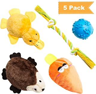 SCENEREAL Small Dog Puppy Chew Toys - Cute Squeaky Interactive Plush Toy for Pets