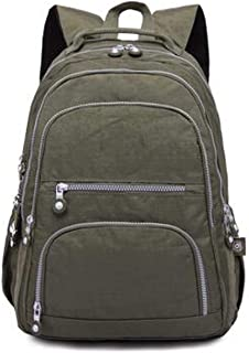 School Backpack For Teenage Girl Women Backpacks Nylon Waterproof Backpack,Arm Green,33Cmx16Cmx47Cm 1377