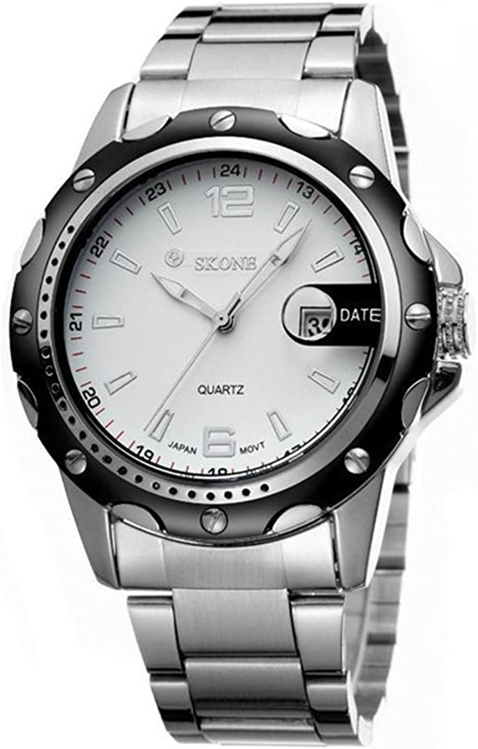New Men Louisville-Jefferson County Mall Watches Stainless Steel Hours Sport Quartz Max 56% OFF Date