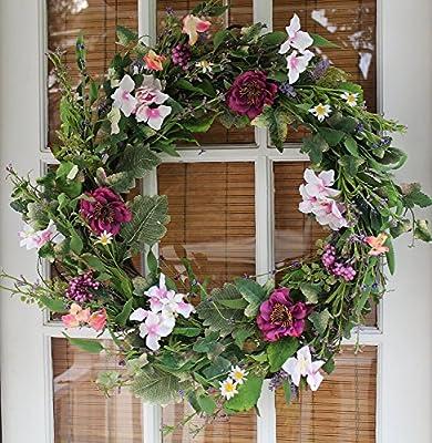 Windsor Silk Spring Door Wreath 22 Inch