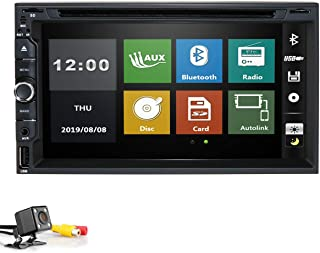 Audio Video Car DVD Player - Double Din, Bluetooth Audio and Calling, 7 Inch LCD Touchscreen Monitor, MP3 Player, CD, DVD, Wma, USB, SD, Auxiliary Input, Am FM RDS Radio Receiver Backup Camera
