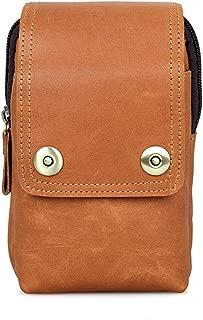 Genuine Leather Waist Bag Men's Multi-Function Belt Bags Casual Mini Hooks Travel Bag Mobile Phone Case Pack Cover