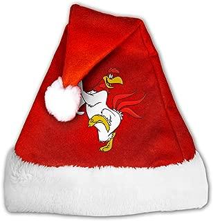SAWUSFEI Foghorn Leghorn Velvet Christmas Hat with Plush Trim &and Comfort Liner