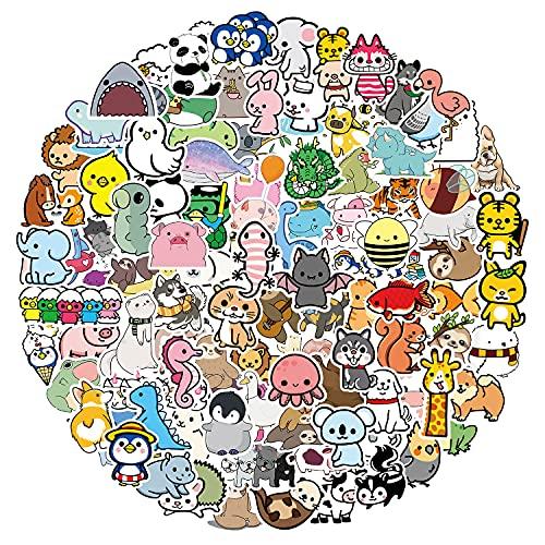 107 Stücke Tieren Aufkleber Graffiti Vinyl Sticker Kinder Anime Grafitti Cool Stickerbomb VSCO für Laptop, Gepäck, Motorrad, Fahrrad, Skateboard