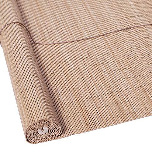 OMKMNOE Bambú Rollo, Cordón con Naturaleza Sin Perforación Bamboo Portador Portador Rollo Protección Clip De Seguridad para Niños Rollo En para Ventana,1