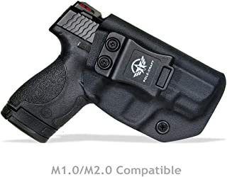 """IWB Kydex Holster for Smith & Wesson M&P Shield 2.0 9mm .40-3.1"""" Barrel - M&P Shield 9mm Holster IWB - Inside Waistband Carry Concealed Holster M&P Shield 9mm - Cover Mag-Button - No Wear, No Jitter"""