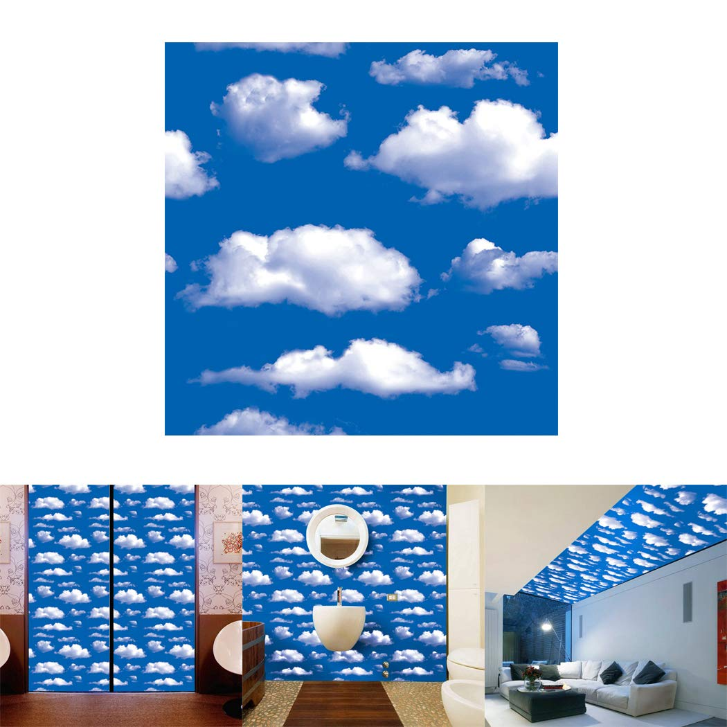 Buy Outgeek Wall Sticker Sky Cloud Ceiling Sticker Wall Decal for ...