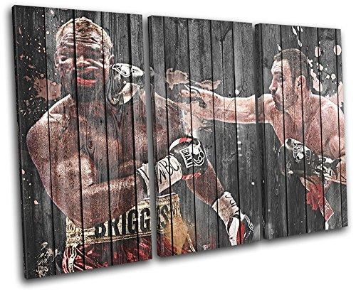 Bold Bloc Design - Vitali Klitschko Boxing Sports 120x80cm TREBLE Leinwand Kunstdruck Box gerahmte Bild Wand hangen - handgefertigt In Grossbritannien - gerahmt und bereit zum Aufhangen - Canvas Art Print
