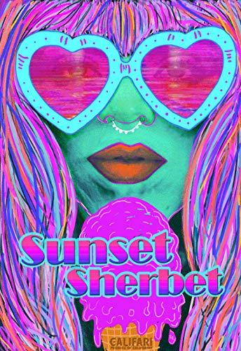 "Califari Sunset Sherbet - Full Color Strain Art Poster, Decor for a Home, Dorm, Dispensary, Store or Smoke Shop - 13"" x 19"" Lithograph Print"