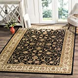 Safavieh Lyndhurst Collection LNH219A Traditional Oriental Black and Ivory Area Rug (8' x 11')