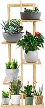 Soporte para escalera de flores, estante de madera maciza de múltiples capas, verde pera, planta de piso Rack Práctico est...