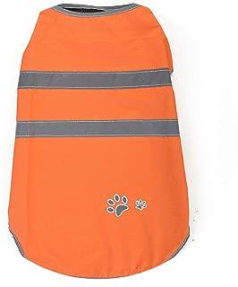 PG-One Pet Puppy Small Dog Raincoat Waterproof Large Dog Clothes Coat Rain Jacket Reflective Big Dog Poncho for Teddy Golden Retriever