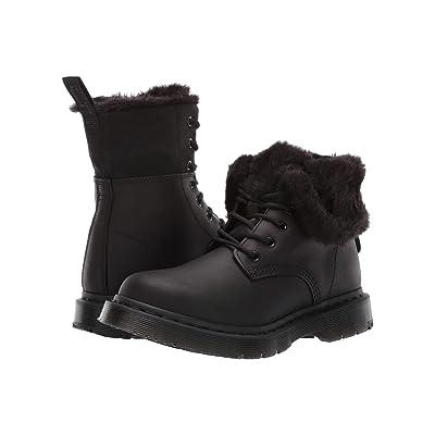 d44d87a1f21c Dr. Martens 1460 Kolbert Wintergrip (Black Snowplow Waterproof/Black Waxy  Suede Waterproof) Women's Boots