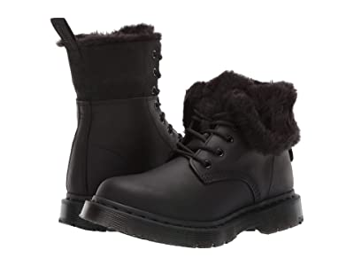 Dr. Martens 1460 Kolbert Wintergrip (Black Snowplow Waterproof/Black Waxy Suede Waterproof) Women