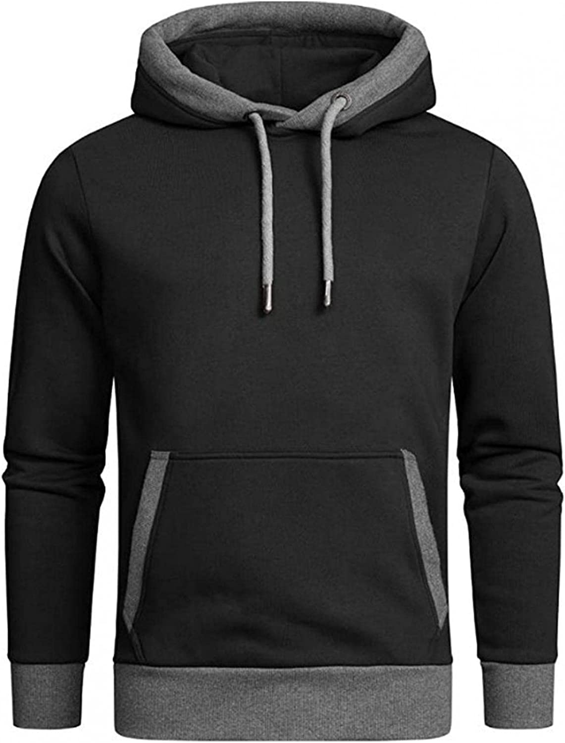 Aayomet Men's Hoodies Sweatshirts Fashion Color Block Tops Long Sleeve Casual Workout Hooded Pullover Shirts Blouses for Men