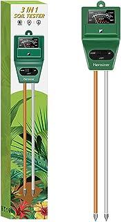 Kensizer خاک تستر ، رطوبت خاک 3 در 1 خاک / نور / pH متر ، کیت ابزار باغبانی برای مراقبت از گیاه ، بدون باتری مورد نیاز