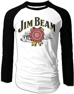 Jim Beam BeerMen's Raglan T-Shirt Long Sleeve Shirt