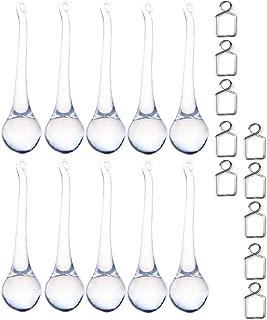 10pcs 3.15inch Large Crystal Raindrop Chandelier Parts Home Decoration Hanging Pendants Ornaments DIY Suncatcher Parts
