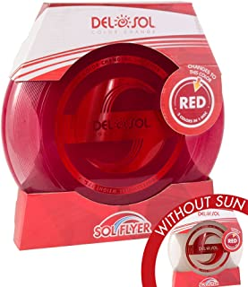 Del Sol Color Changing Flying Disc- Professional Ultimate Sport Disc 175g - Changes Color in The Sun!