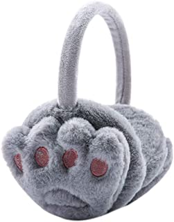 Animal Big Mouth Picture Monkey Winter Earmuffs Ear Warmers Faux Fur Foldable Plush Outdoor Gift
