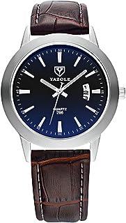YAZOLE Men Quartz Watch Male Wristwatch with Blue Light Blocking Mineral Glass Time Calendar Display Luminous Pointer 3ATM...