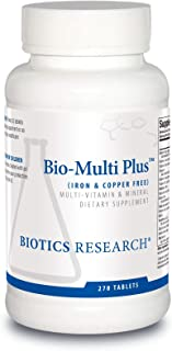 Biotics Research Bio Multi Plus Iron and Copper Free Multivitamin, Chelated Minerals, Emulsified Fat Soluble Vitamins, Iro...