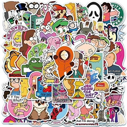 BLOUR 10/30/50 Uds clásico Dibujos Animados animación Graffiti Casco de Coche Motocicleta refrigerador Equipaje Pegatina para portátil Juguetes al por Mayor