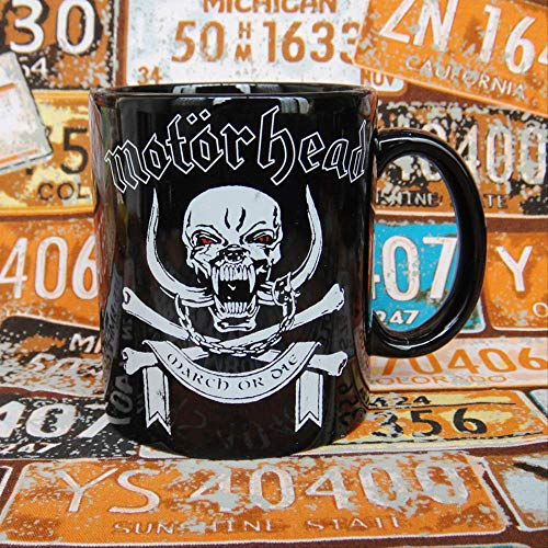 Motorhead Moto head heavy metal hard core rock band Skull Ceramic Cup