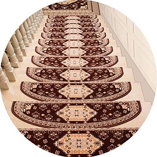 Oanzryybz di Alta qualità Scala Mats Scale Pads Set autoadesive pedate rug Non Slip Moquette, Silicone autoadescante, 1 Pezzo / 3 Parti / 5 Pezzi (Color : Brown, Size : 100cmx26cm-5pcs)