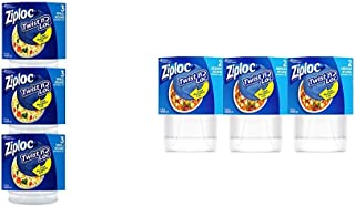 Ziploc Twist 'n Loc Variety Pack, 9 small containers & 6 medium containers