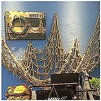 安全な階段ネット迷彩ネッティング麻ロープセーフティネット装飾ネット手作りネットロープジュート織りネットクライミングロープ8mm * 10cm