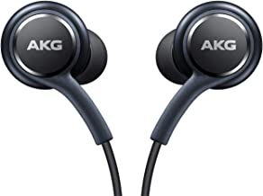 OEM Two (2) Amazing Stereo Headphones for Samsung Galaxy S8 S9 S8 Plus S9 Plus S10 Note 8 9 - Designed by AKG with Microphone + Two (2) Cable Tie Organizer Bundle Package-Non Retail Package By Ensales