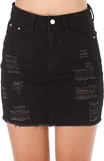 Best black ripped skirt Reviews