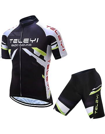 5d5096540fe3fd TELEYI サイクルジャージ 半袖 上下セット サイクルウェア 男性用 高弾性 3Dパッド 吸汗速
