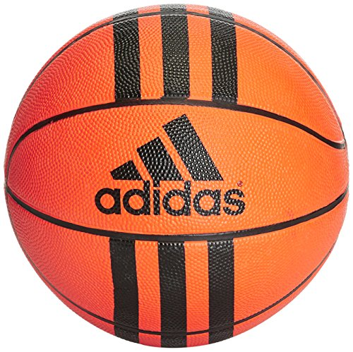 adidas 3-Stripes Mini Basketball Unisex, Orange/Black, 3