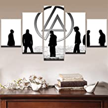 HZDDR Wall Art Painting Forever Classic Linkin Park Rock Band Posters 5 Piece Modern Canvas Printed Artwork Home Decor for Living Room-10CMx15/20/25CM