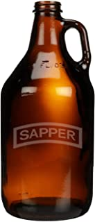 Sponsored Ad - US Army - Sapper Tab Shoulder Sleeve Patch Etched Glass Beer Growler 64 oz