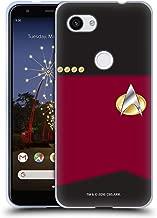 Official Star Trek Captain Uniforms and Badges TNG Soft Gel Case Compatible for Google Pixel 3a