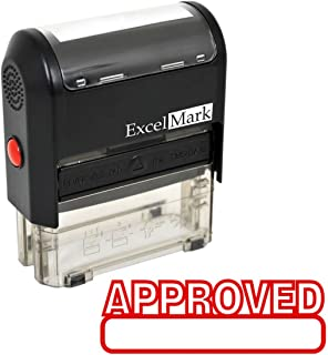 Approved Self Inking Rubber Stamp - Red Ink