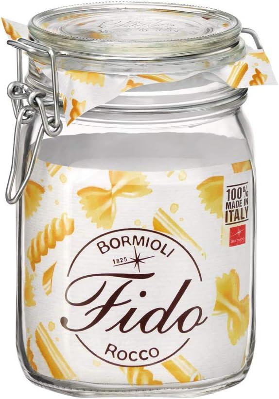 Bormioli Rocco Max 47% OFF Fido Storage Jar-Wire 2021 Bail-1 C Pack 1 liter L-1