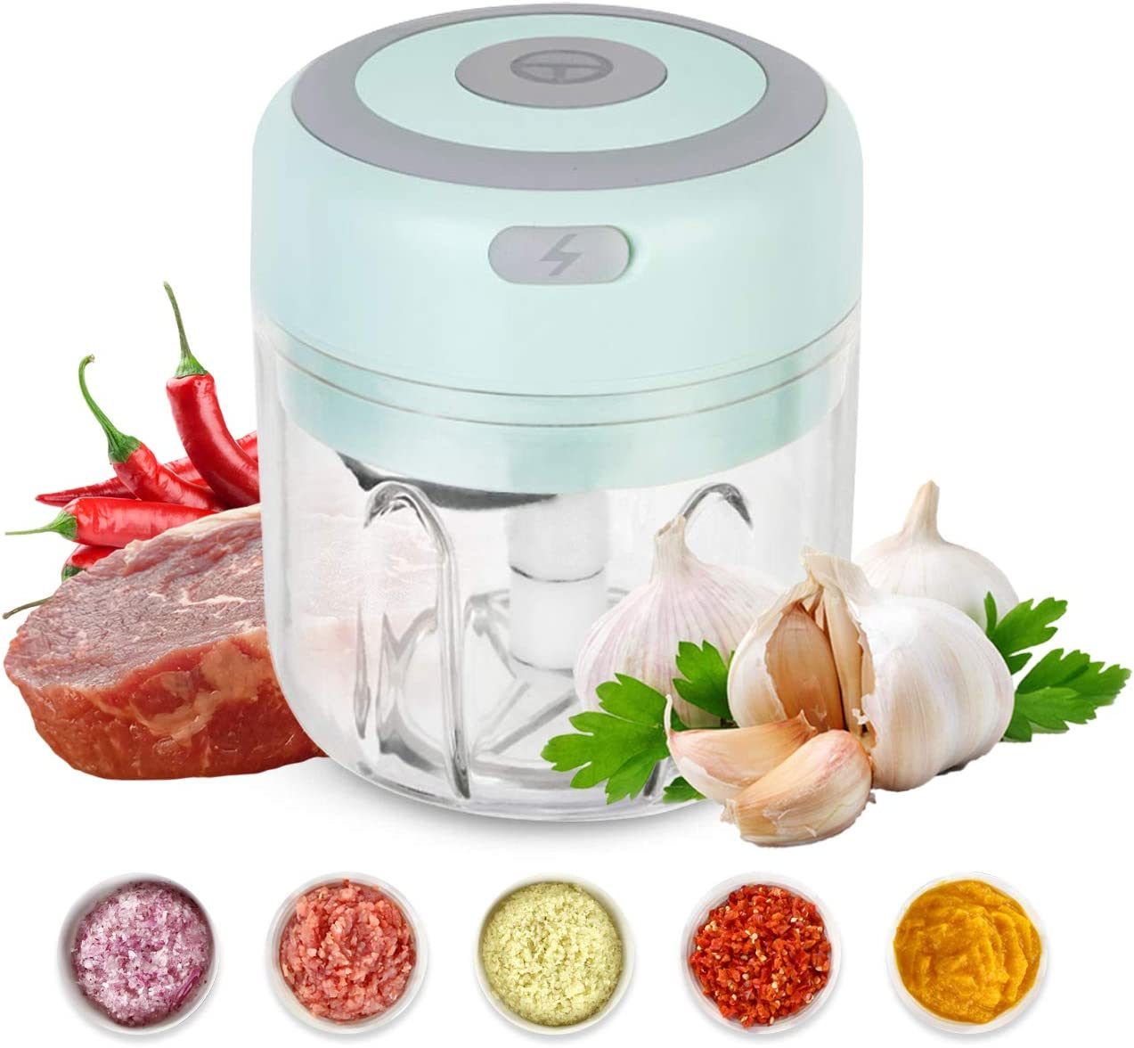 Beauty OFFicial mail order Nymph Mini Electric Chopper Max 49% OFF Vegetable Garlic Food