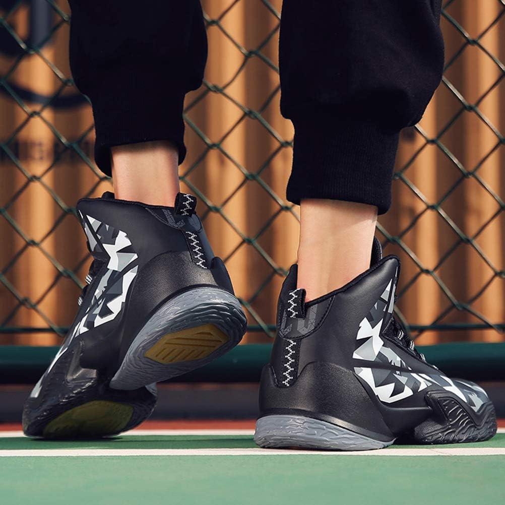 WILTENA Unisex Lifestyle High-top Womens Anti-Slip Basketball Shoes Mens Sports Running Walking Sneakers