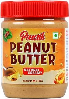 Poustik Natural Peanut Butter (Unsweetened / Gluten Free / Non-GMO / Vegan) (Natural Creamy, 400g)