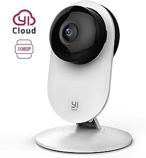YI Cámara Vigilancia Cámara IP  Wifi 1080p Sistema de Seguridad de Full HD Detección de Movimiento Visión Nocturna Audio de 2 Vias y Nube con App para iOs y Android (Blanco)