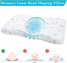 EasyLife185 Baby Head Shaping Pillow, Memory Foam Infant Sleeping Pillow, Newborn Round Pillow Prevent Flat Head Syndrome for 0-3T Baby Girl & Boy with Washable Cotton Pillow Cover (Giraffe)