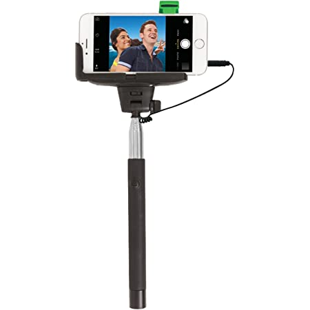 The Original #SelfieStick by ReTrak Wired Built-In (No Battery, Bluetooth, App, Wifi Needed)! Fits all phones