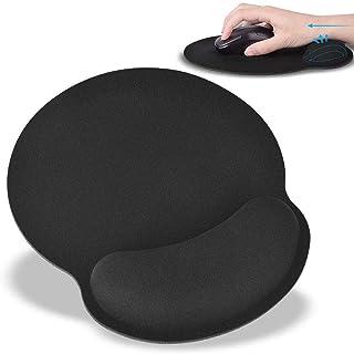 マウスパッド 手首 低反発 マウスパット リストレスト 人間工学 手首クッション 疲労軽減 リストレストクッション マウスマット (ブラック)